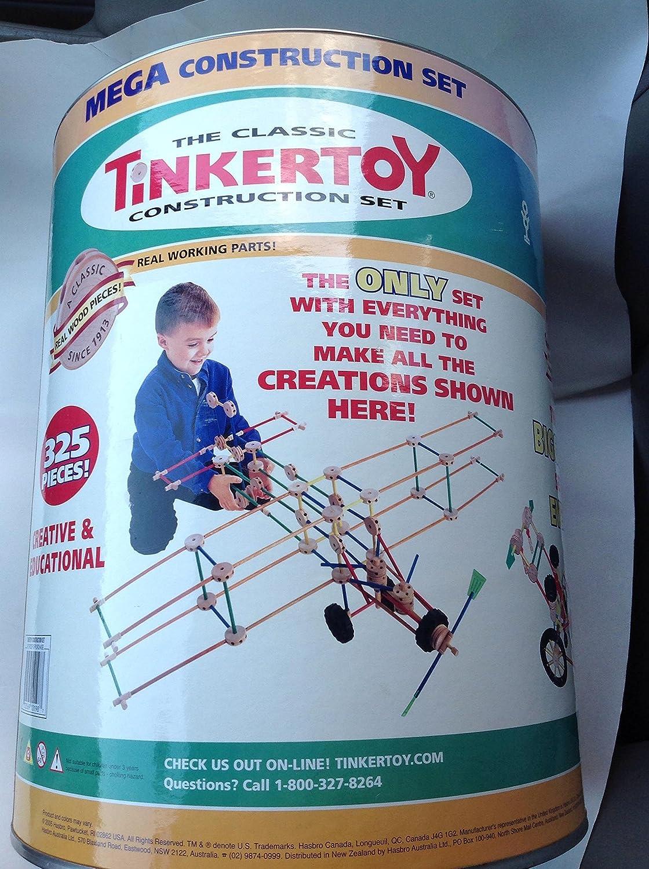 Tinkertoy Mega Construction Set 325 Pieces