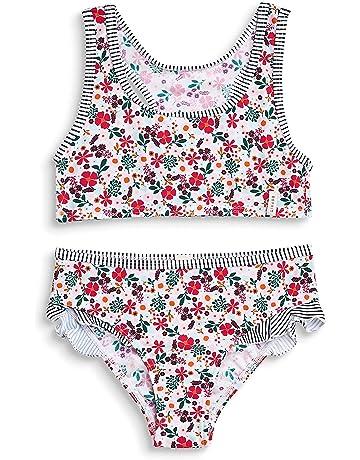 b613afb4281b6 ESPRIT Girl's Mille Fleur Beach Mgbustier + Brief Swimwear Set