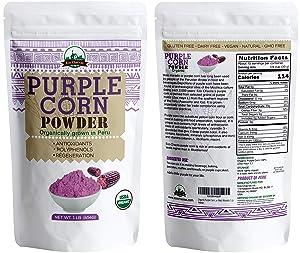 Organic Purple Corn Powder flour from Peru- Maiz Morado 1 Lb