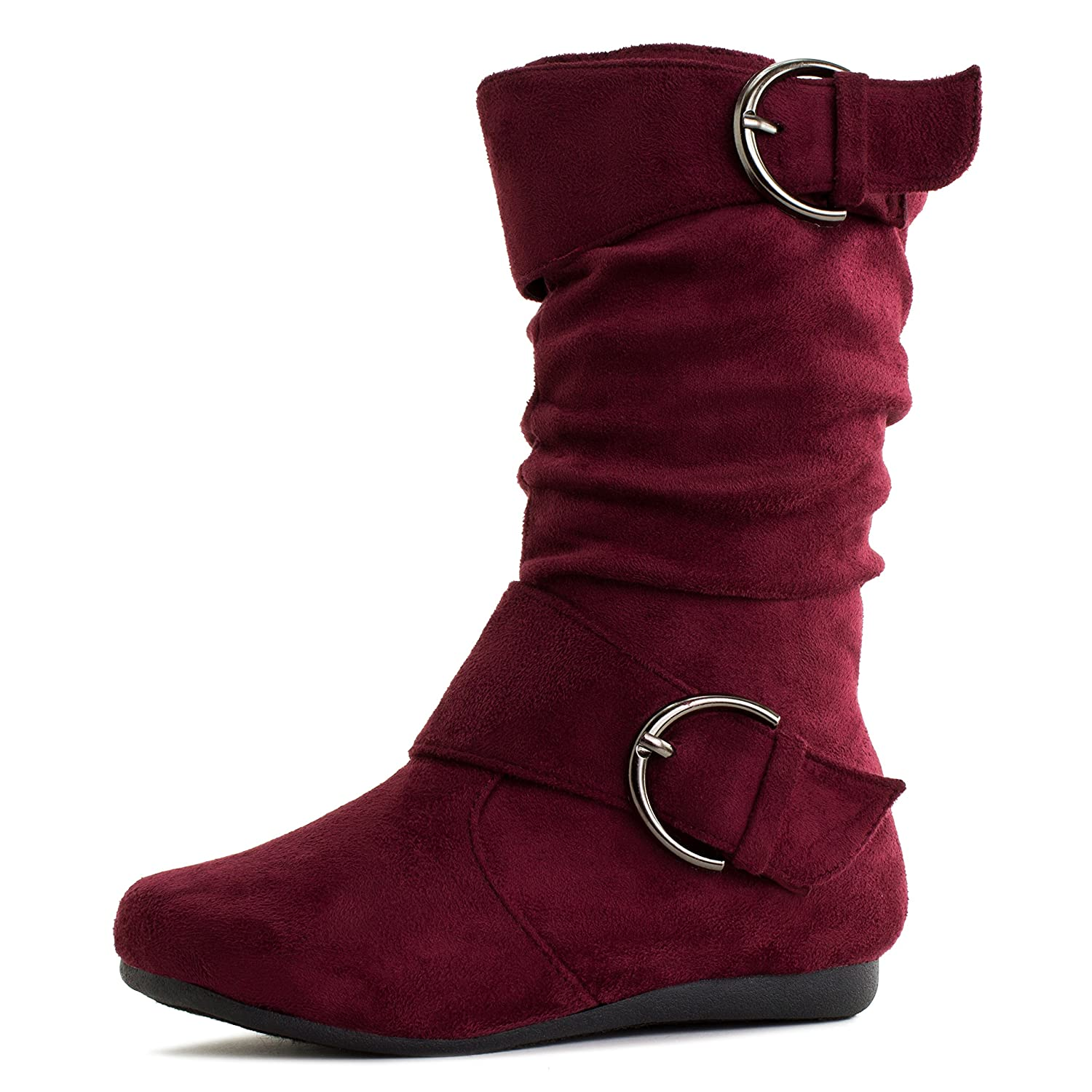 a9708af222d0c Generation19 Girls Faux Suede Two Buckle Mid Calf Boots (Toddler/Little  Kid/Big Kid)