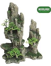 Heritage Hb011Aquarium imitation Rocher Grotte Décoration peinte à la main Ornement 27cm cacher