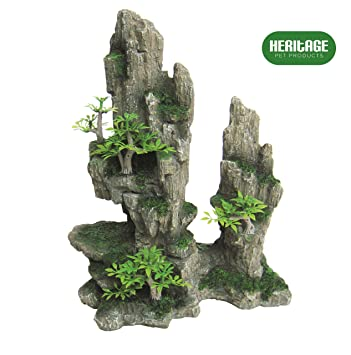Heritage HB011 - Figura decorativa para acuario de acuario, diseño de cueva de camuflaje, 27 cm de diámetro: Amazon.es: Productos para mascotas