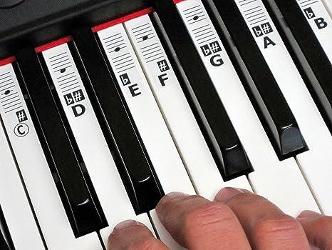 KEYNOTES Piano y La Música Nota Pegatinas con Aprendizaje en línea Sida (CDEFGAB)
