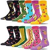MAKABO Men's Fun Dress Socks Colorful Funny Novelty Casual Crew Socks Packs