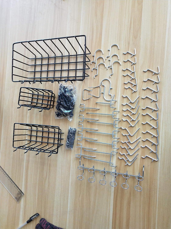 1//4-Zoll-Peg-Board-Anh/änge S SMAUTOP Pegboard Organizer Wirbelbrett-Hakensatz f/ür Werkzeuge f/ällt nicht vom Brett ab