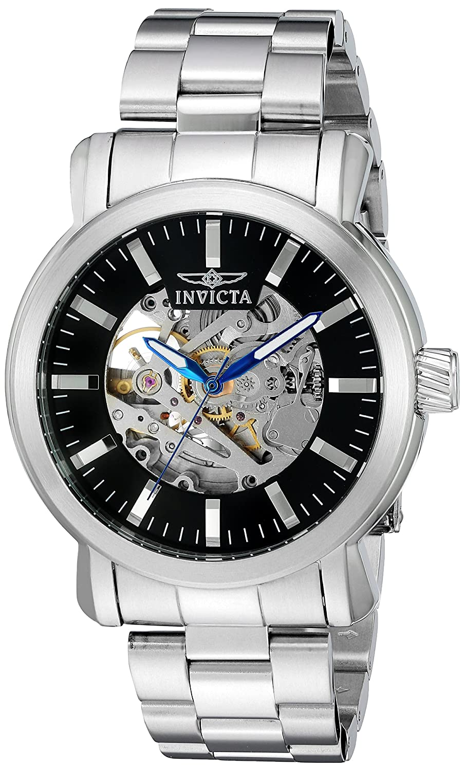 Amazon.com: Invicta Mens Vintage Automatic Stainless Steel Casual Watch, Color:Silver-Toned (Model: 22574): Invicta: Watches