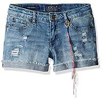 Girls' 5-Pocket Cuffed Stretch Denim Short