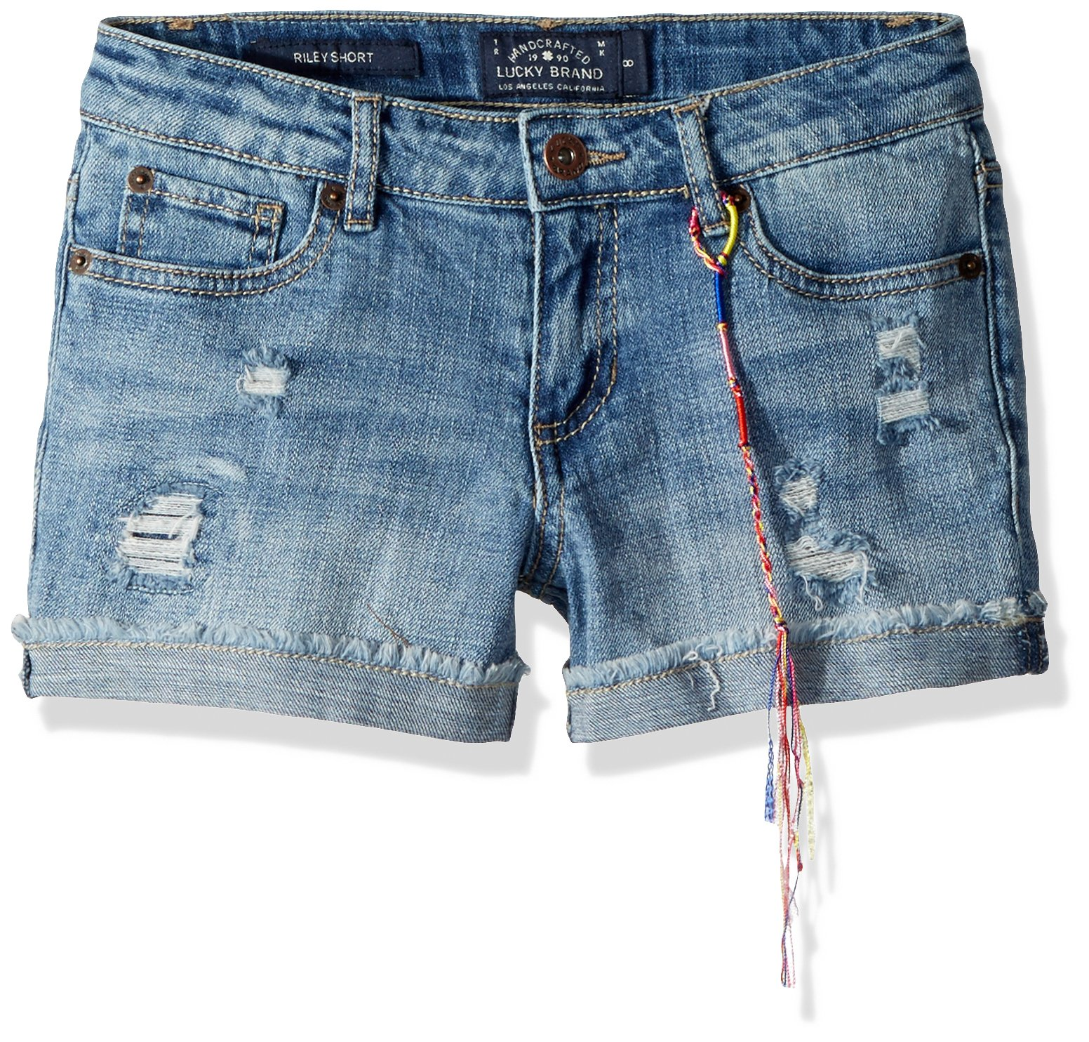 Lucky Brand Girls' Big Ronnie Cuffed Denim Short Ryder wash, 12