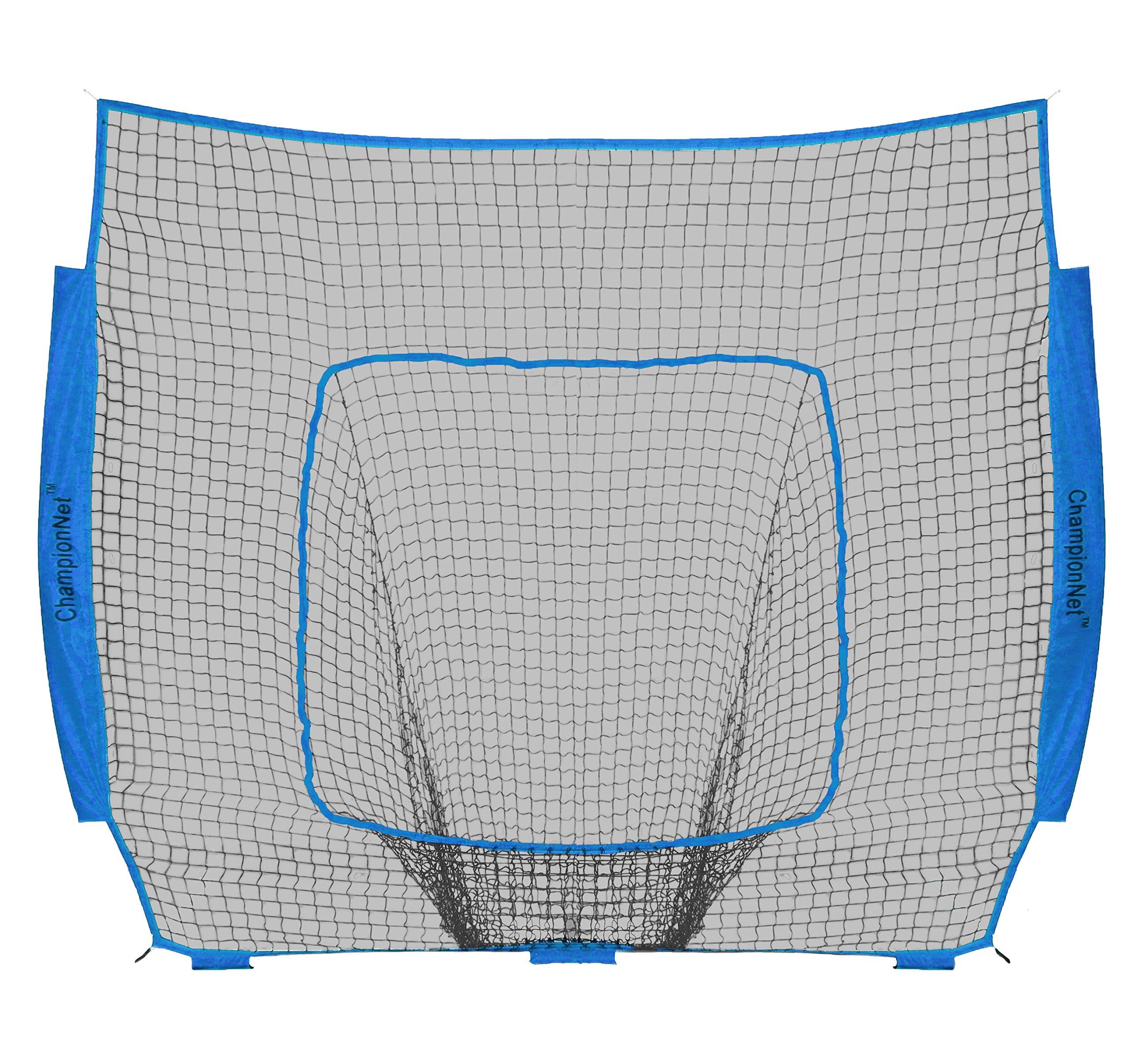 ChampionNet Baseball/Softball 7' x 7' Hitting Net Replacement NO Frame -Sky Blue by ChampionNet