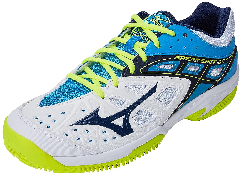 Mizuno Break Shot Ex CC, Zapatillas de Running para Hombre 47 EU|Multicolor (White/Blue 14)
