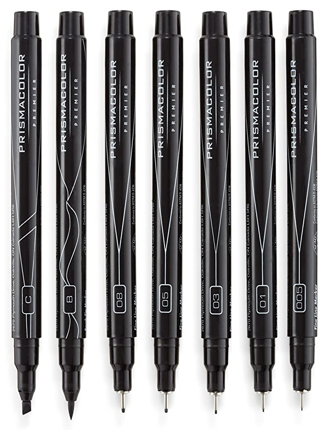 Prisma Illust Marker Fineline Set//5 Black