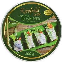 Ricefield Tapioka-Reispapier, rund 22 cm, Premiumqualität, 2er Pack (2 x 300 g Packung)