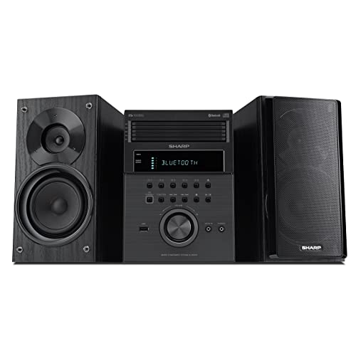 Sharp XL BH250 5 Disc Micro Shelf Executive Speaker System With Bluetooth