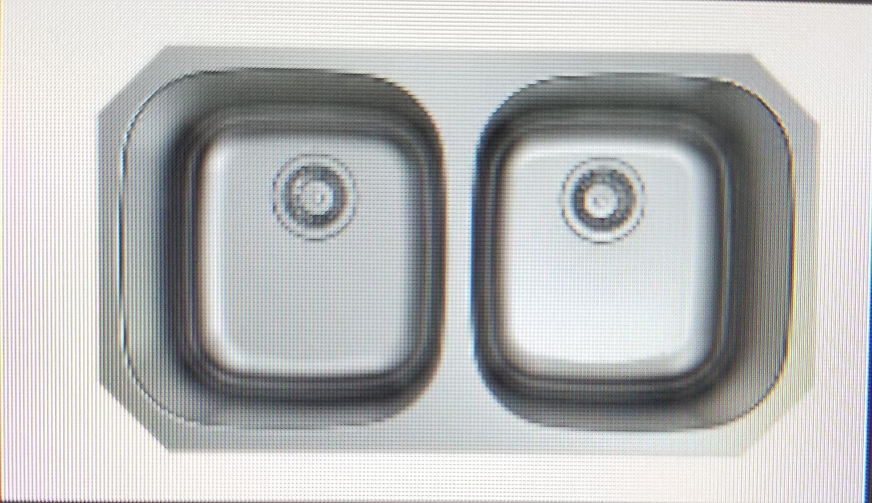 33 Undermount Stainless Steel Kitchen Sink 33 X 18 X 9 Double Bowl 50 50 18 Gauge Kitchen Dining