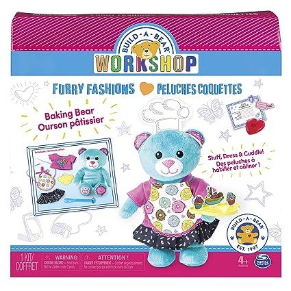 amazon com build a bear workshop furry fashions baking bear