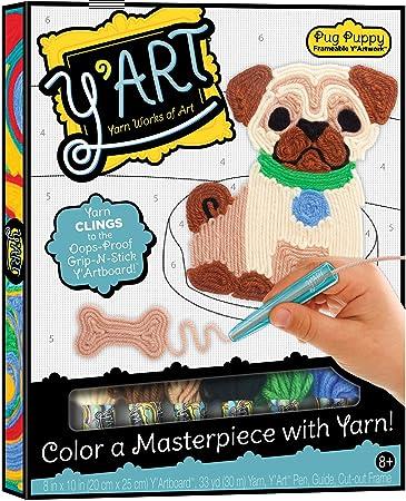 Amazon com: Y'Art Craft Kit - Pug Puppy: Toys & Games