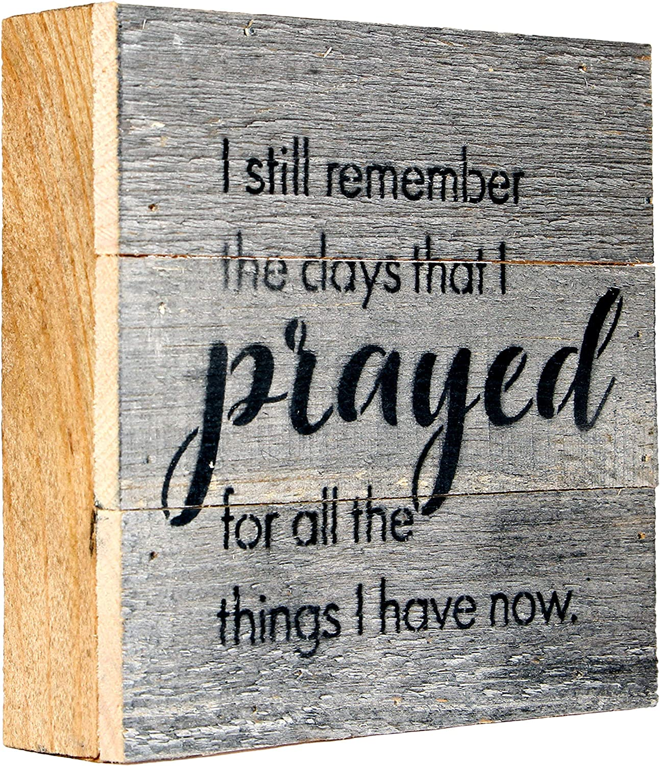 MAINEVENT I Still Remember The Days That I Prayed Box Signs for Home Decor, Farmhouse Cute Wooden Signs with Quotes, Funny Knick Knacks Home Decor, Plaques with Sayings, Small Kitchen Signs