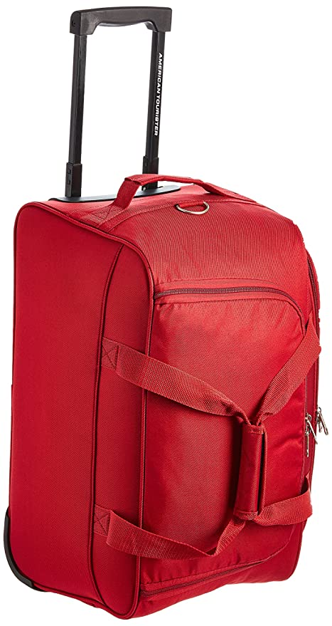 American Tourister Pep Polyester 55 cms Red Travel Duffle (AMT PEP Wheel  Duffle 55CM- 6d3f6989e017d