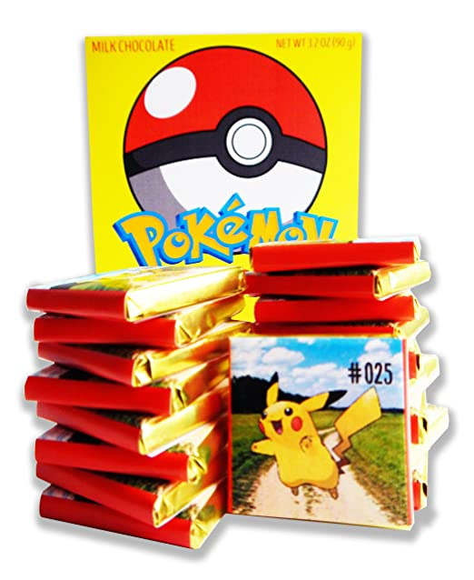 POKEMON BOX WITH CHOCOLATE! ☀ It's funny gift food will be a great holiday gift idea! (18 pieces of chocolate)
