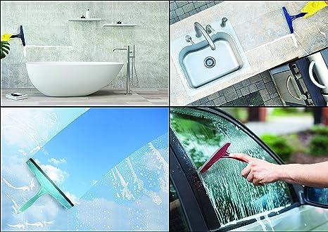 20,3 cm Maroon lavavetri da Bagno per Doccia EasyRester lavavetri per Vetro della Doccia finestrini dell/'Auto lavavetri Piatti lavavetri per Parabrezza