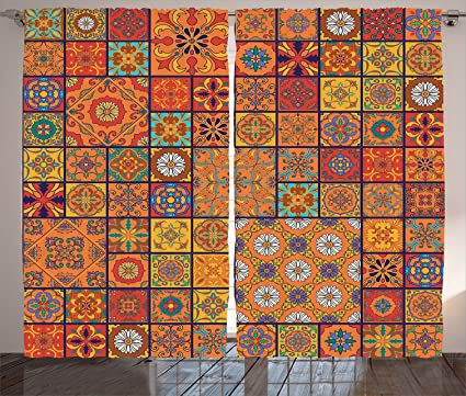 Amazon Ambesonne Moroccan Decor Collection Collection Of Gorgeous Moroccan Design Pattern