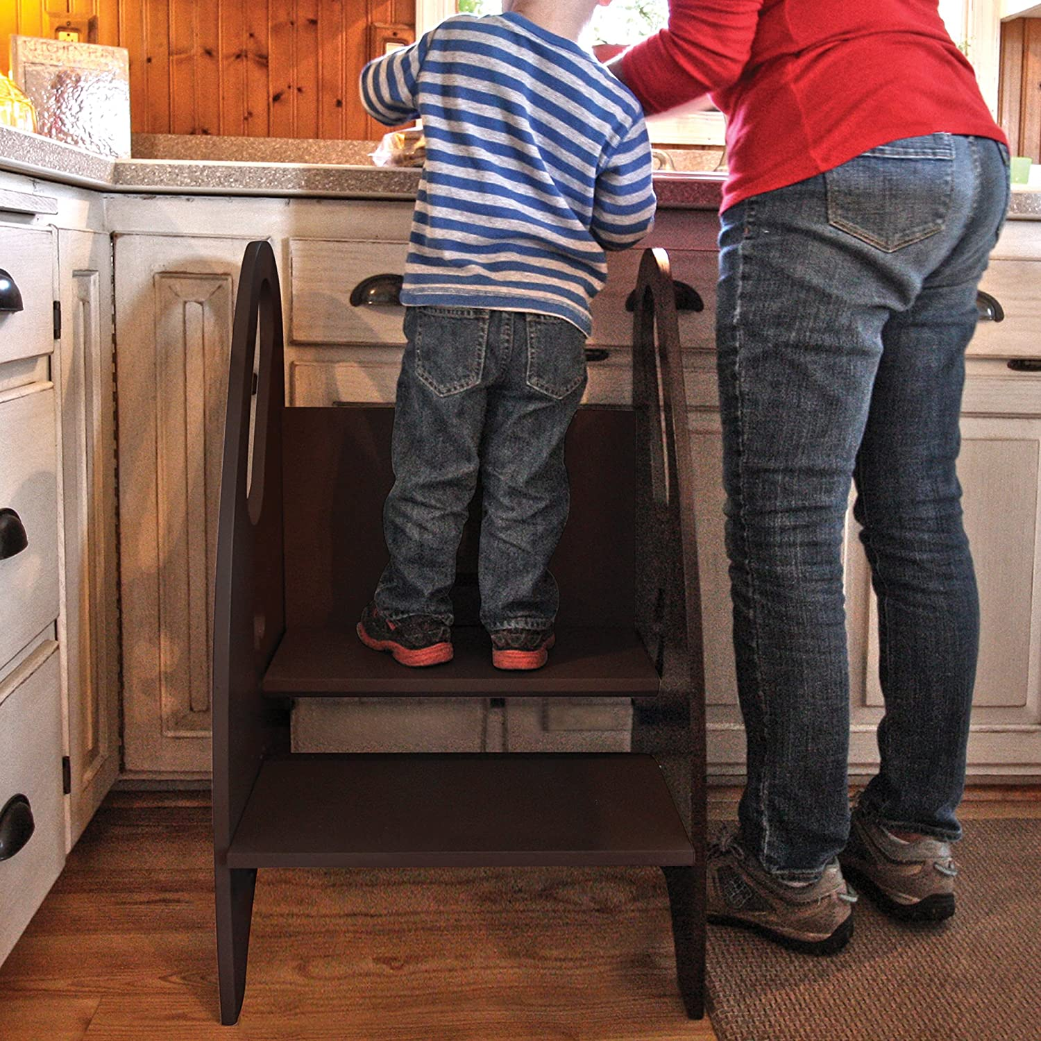 Amazon.com The Growing Step Stool by Little Partners (Stone Grey) u2013 Adjustable Height Nursery Kitchen or Bathroom Kids Footstool u2013 Wooden Non-Tip Design ... & Amazon.com: The Growing Step Stool by Little Partners (Stone Grey ... islam-shia.org