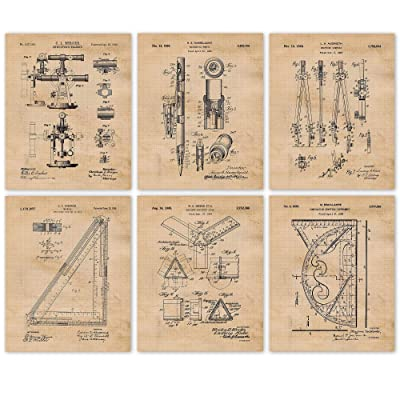 Vintage Architect Patent Poster Prints