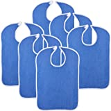"""Simpli-Magic 79271 Adult Terry Bibs, 18""""x30"""", Blue 6 Pack"""