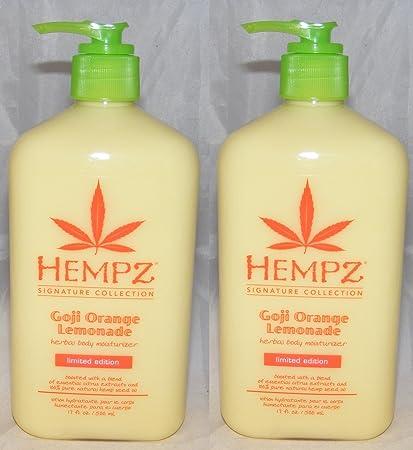 Lot of 2 Hempz GOJI Orange Lemonade Herbal Body Moisturizer 17 Fl Oz. Signature Collection Limited Edition JUST RELEASED