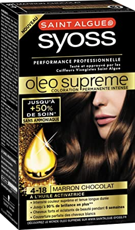 syoss saint algue olo suprme coloration permanente 4 18 marron chocolat - Syoss Coloration Prix