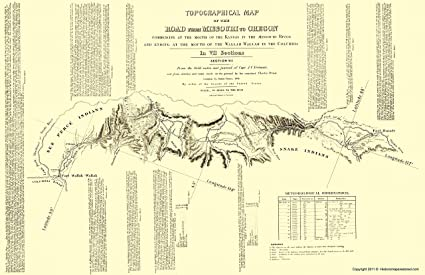 picture regarding Oregon Trail Map Printable identified as : Topographical Map Print - Oregon Path Idaho 7