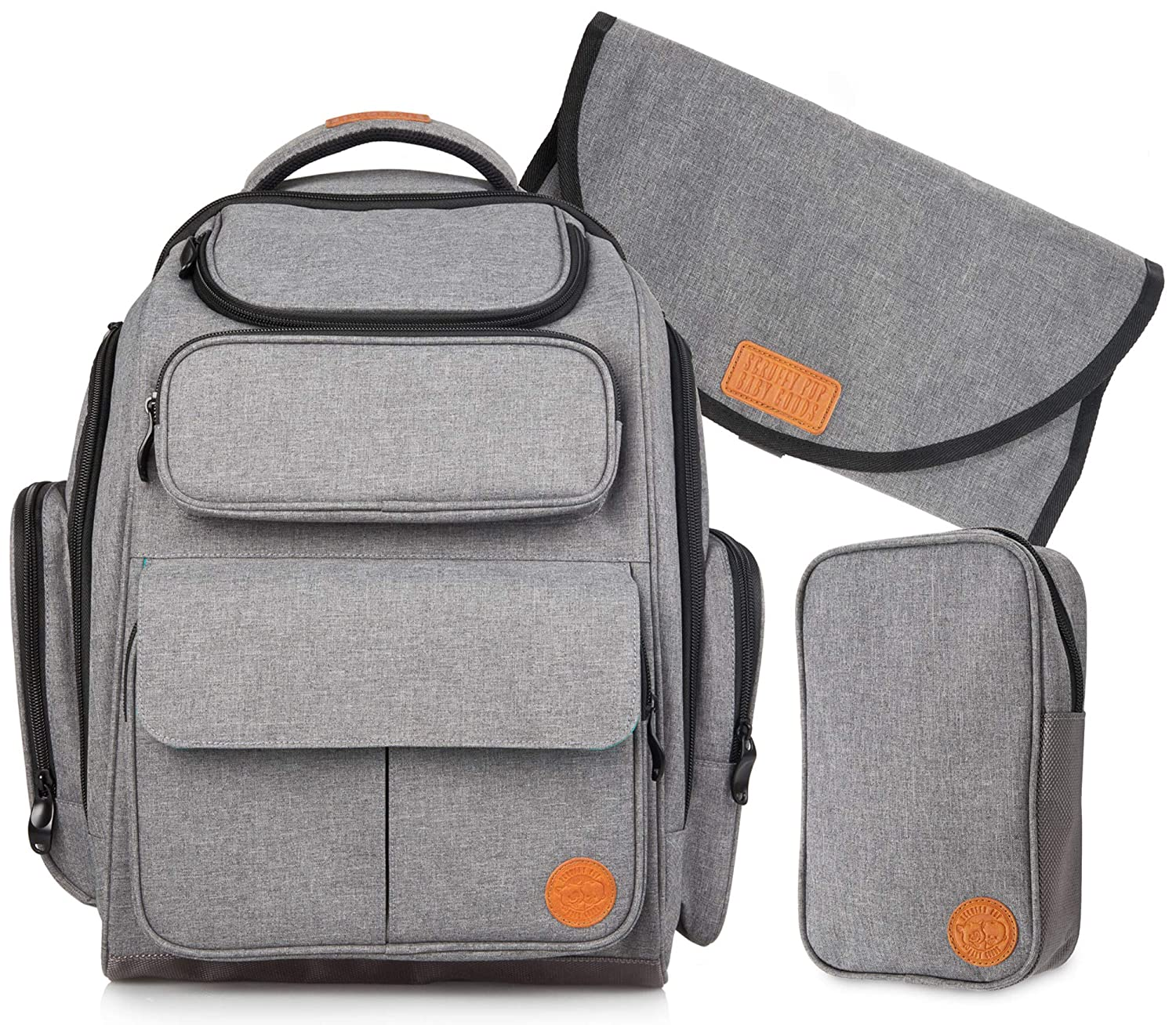 55efef490bf7d Amazon.com : Dad Diaper Bag Backpack: Large Baby Travel Bags for a Boy,  Girl & Mom - Grey : Baby