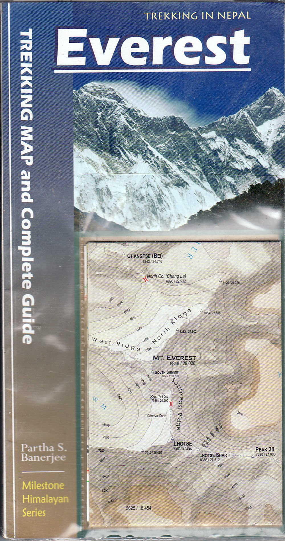 Everest: Trekking Map and Complete Guide (Milestone Himalayan Series) 4th Edition 2017 --- March 2017