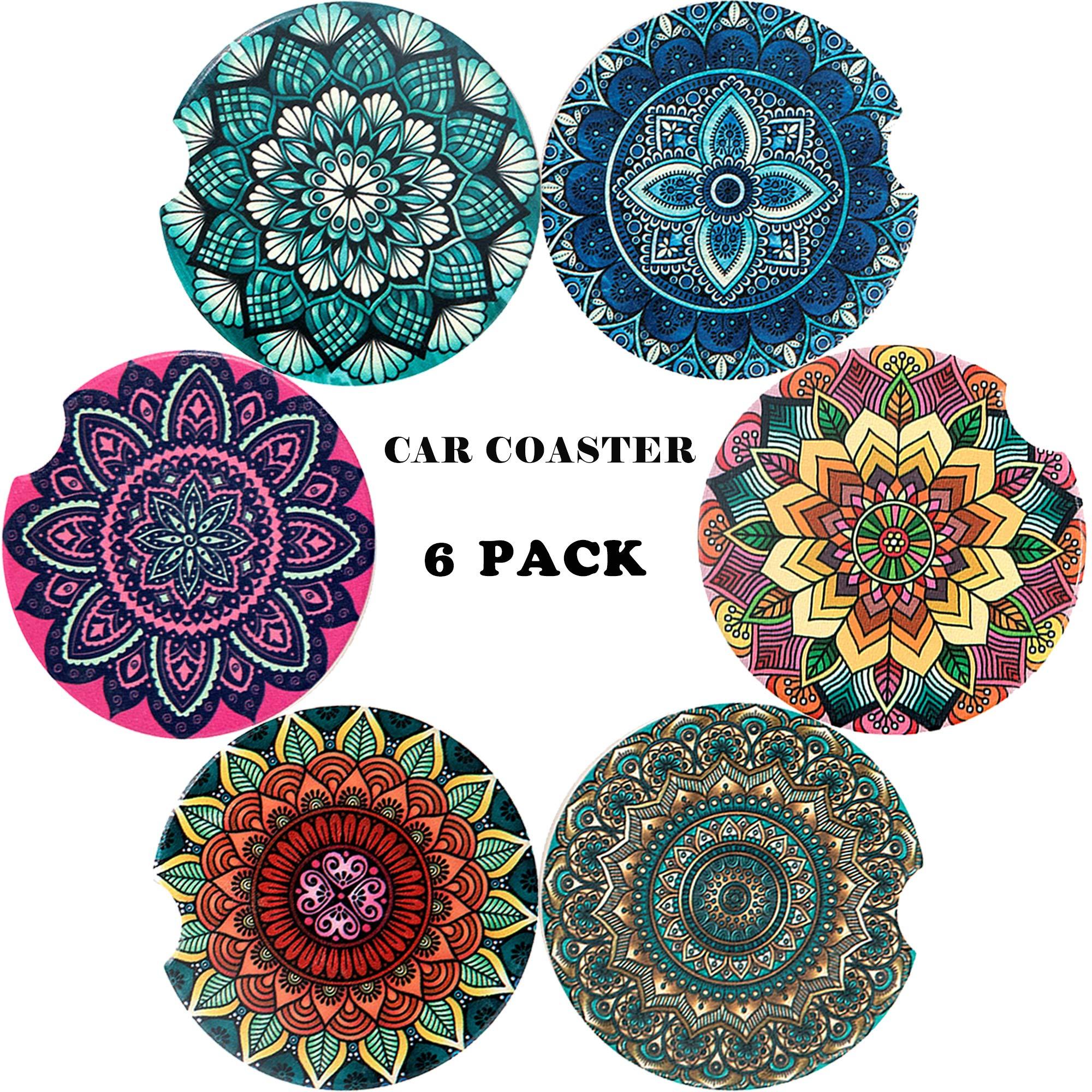 Stoneware Auto Coasters