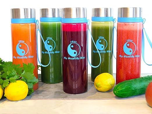 My Healthy Way - Ibiza Fruit - Botella para infusiones - Hermética - Multi-función Botellas Jugos de almacenamiento- Para yoga, desintoxicación, ...
