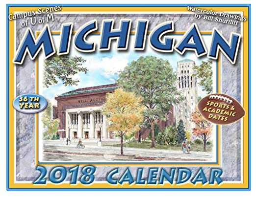 Amazon.: University of Michigan 2018 Calendar : Office Products