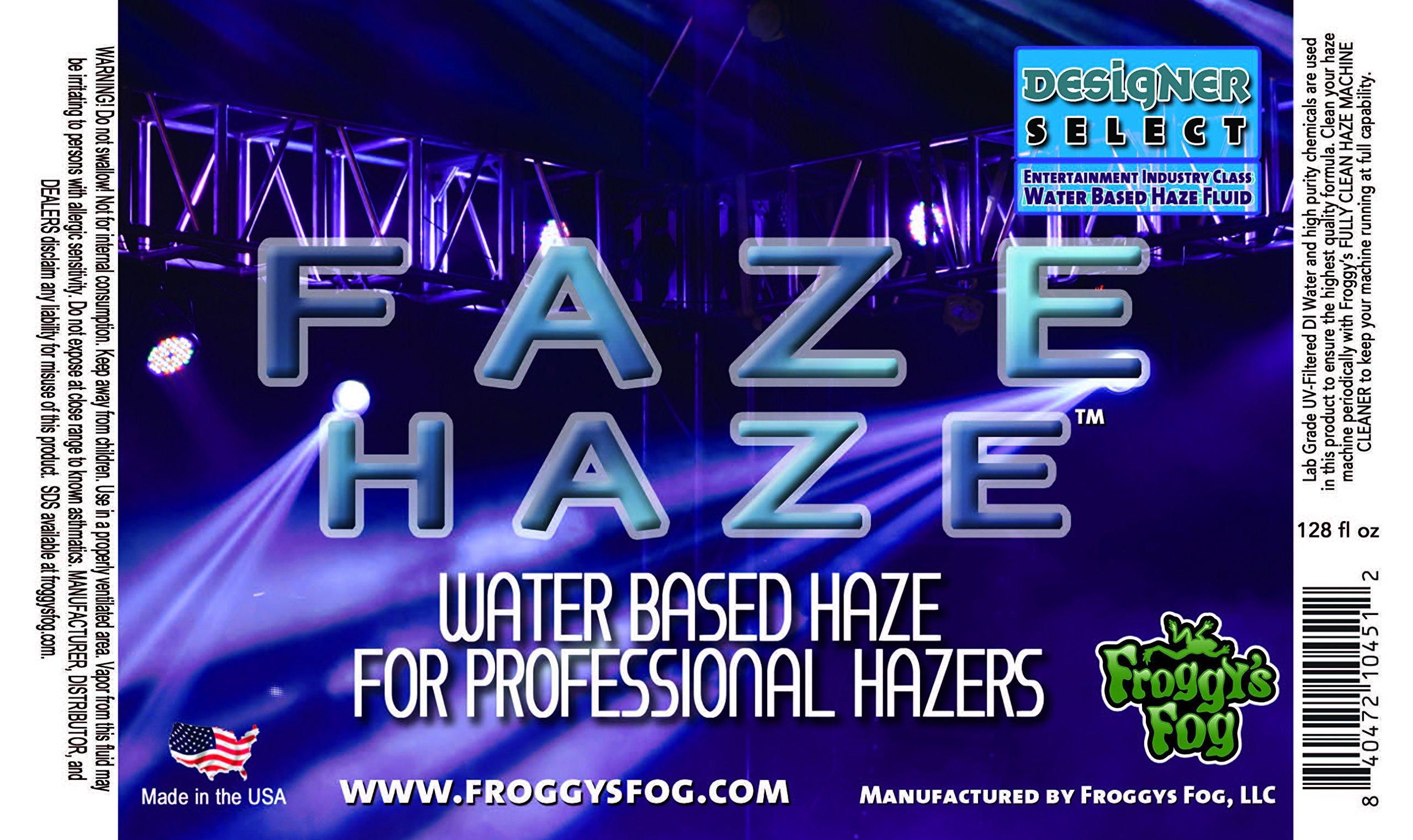 Faze Haze - Professional Water Based Haze Juice - for use in Antari Fazers, Chauvet Hazers, Base Hazer Pro and Martin Compact Hazers - 4 Gallon Case