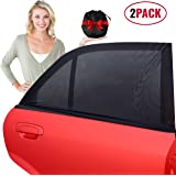 barucci Car Side Window Sunshades - 2 Pack. Universal Sock Shade to Protect Baby, Kids, Pets and Passengers in The Back Seat from Harmful UV Rays and Heat. for a Cooler Car. Easy to Install