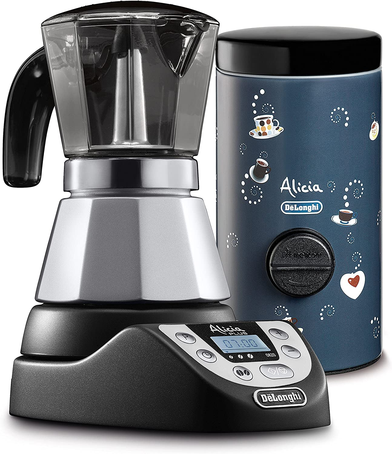 DeLonghi EMKP42.B - Cafetera eléctrica Alicia Plus, color plata ...