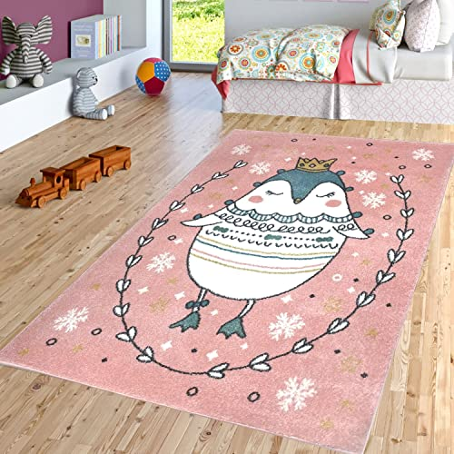 Princess Sophie The Penguin Boy and Girl Bedroom Modern D cor Area Rug and Carpet Collection for Kids and Children