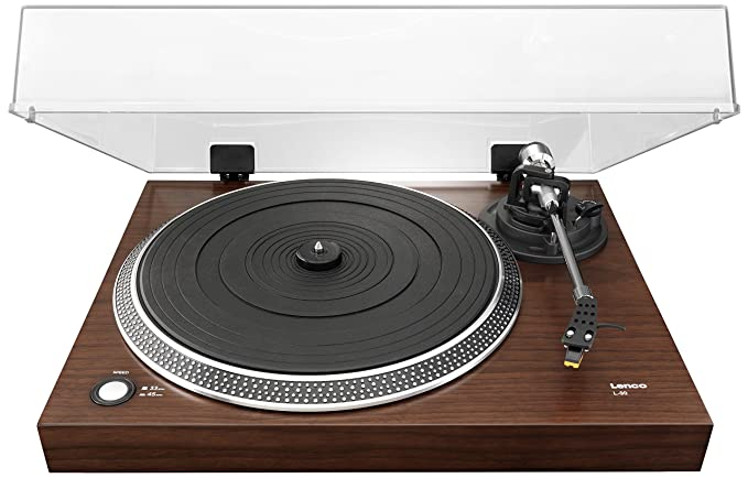 Amazon.com: Lenco l-90 Turntable Chapa de nogal de madera ...