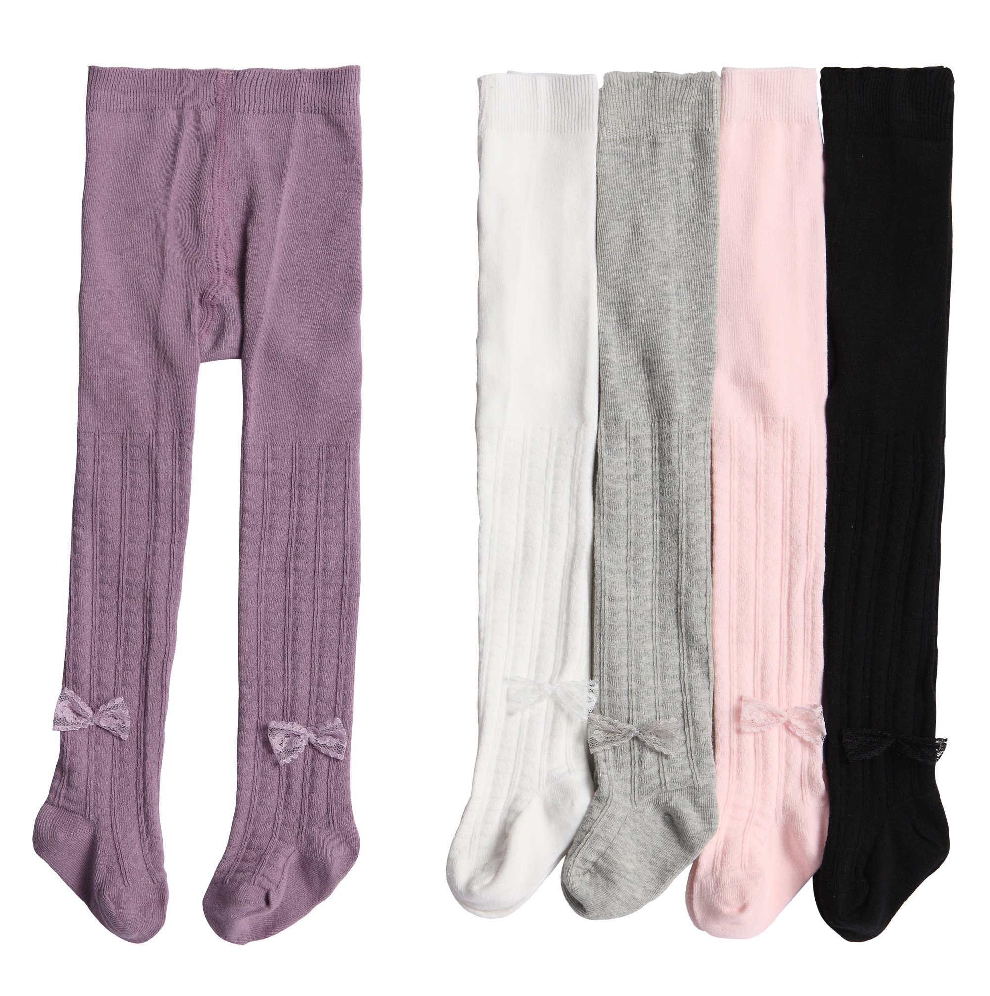 Alva Edison Lace Bowknot Tights For Baby Girls,Toddlers&Child (2-3T, 5 Colors) by Alva Edison