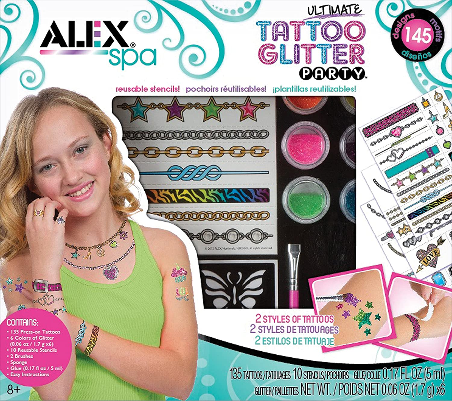 Ultimate Glitter Tattoo Party Craft Kit