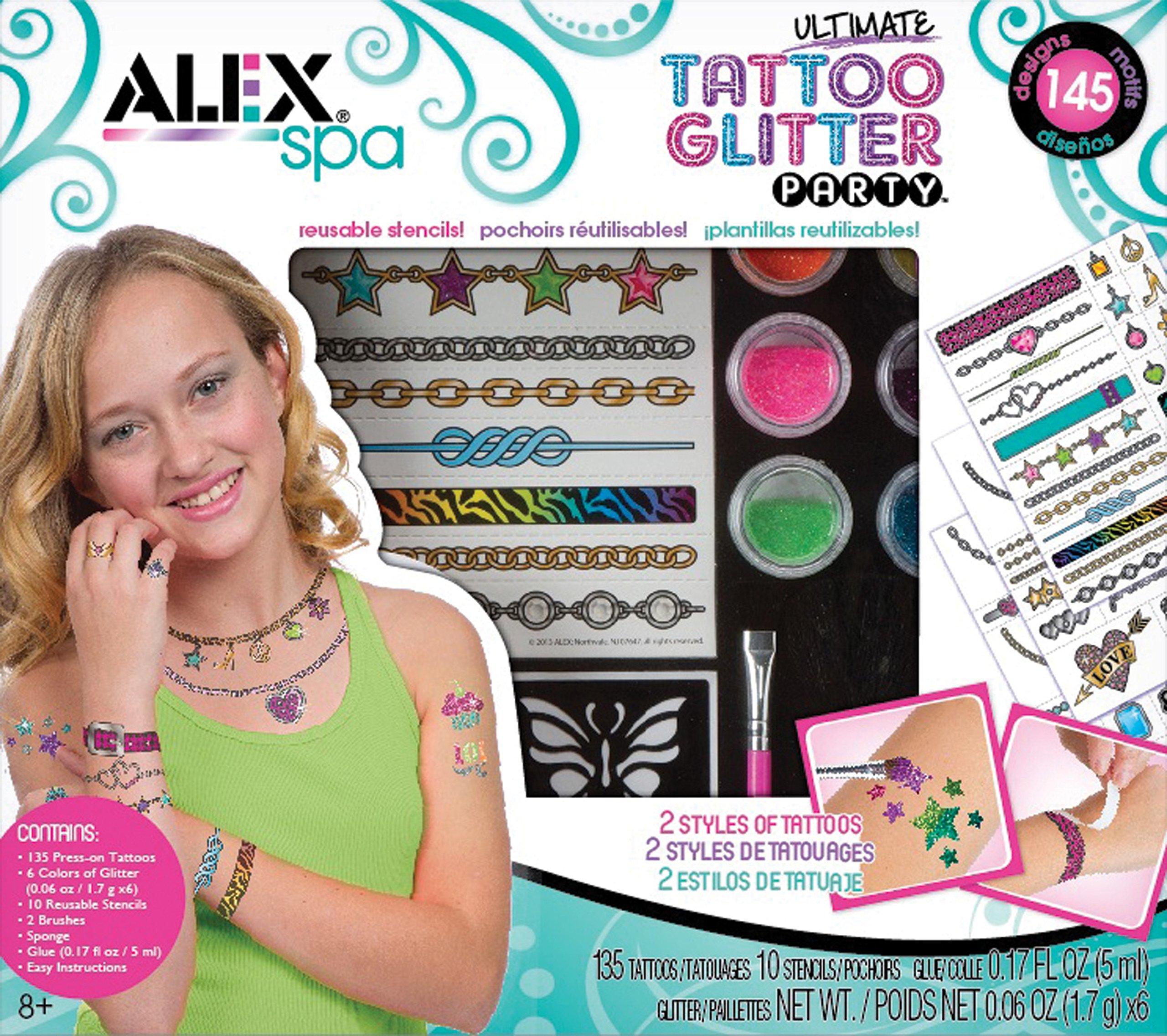 ALEX Toys Spa Ultimate Glitter Tattoo Party Craft Kit