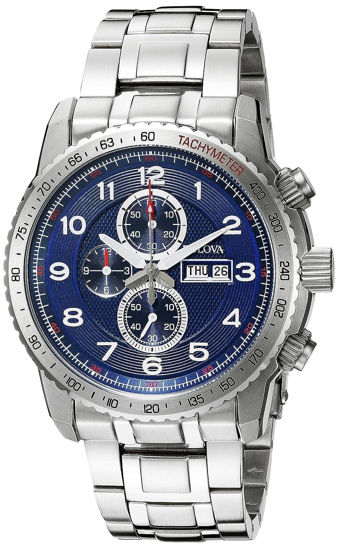 f54bd6323 Bulova Men s 96C121 Marine Star Analog Display Quartz Silver Watch