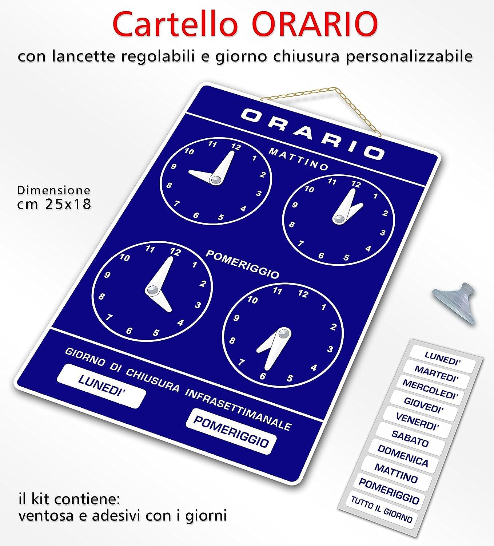 Politarghe R-006 - Cartel para horarios de apertura de ...