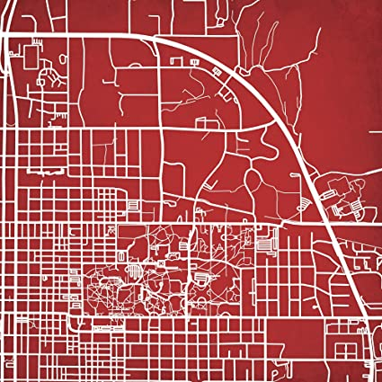 Amazon Com Indiana University Campus Map Art 14 Gallery Wrapped
