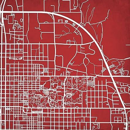 Amazon Com Indiana University Campus Map Art 14 Gallery Wrapped