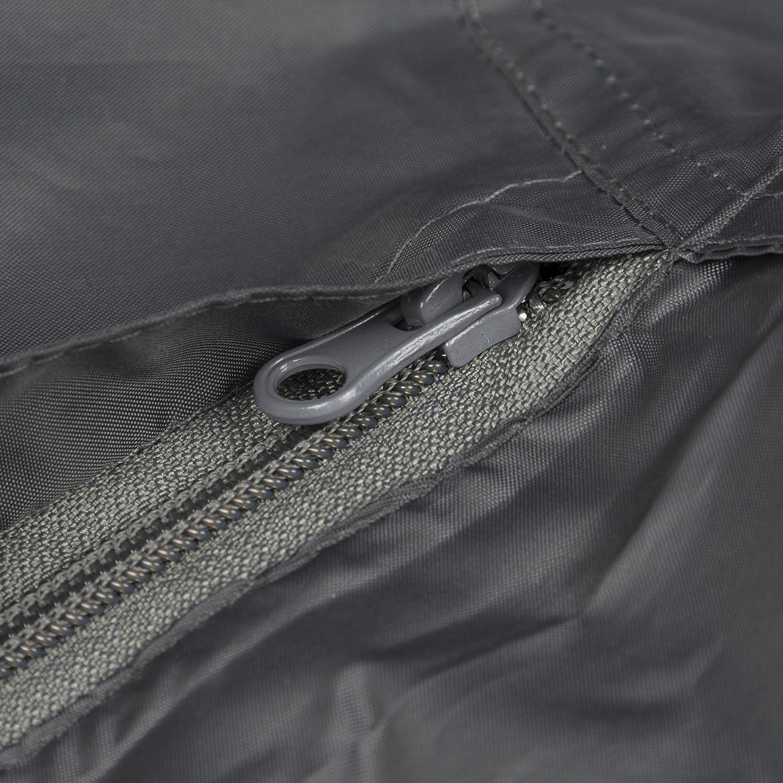 Rubberneck Regenponcho - Kapuze mit Sichtfenster, Wasserdicht, Reflektionsstreifen, Grau skanfriends