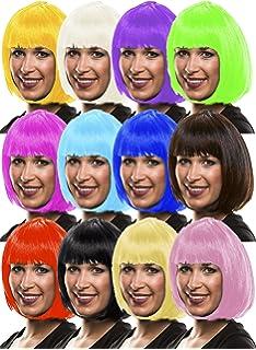 Generique Mittellange Glatthaar Perucke In Neon Pink Fur Frauen